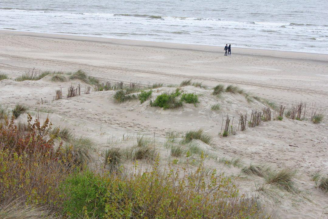 Plage de Zeebruges en Belgique
