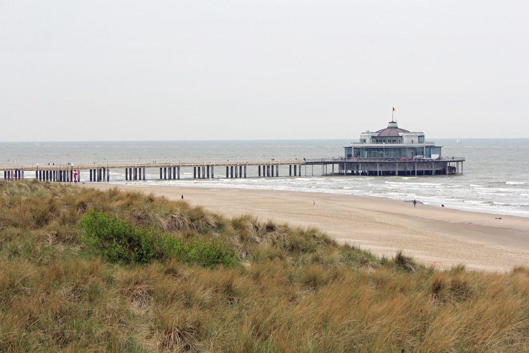 Côte belge de Zeebruges en Belgique