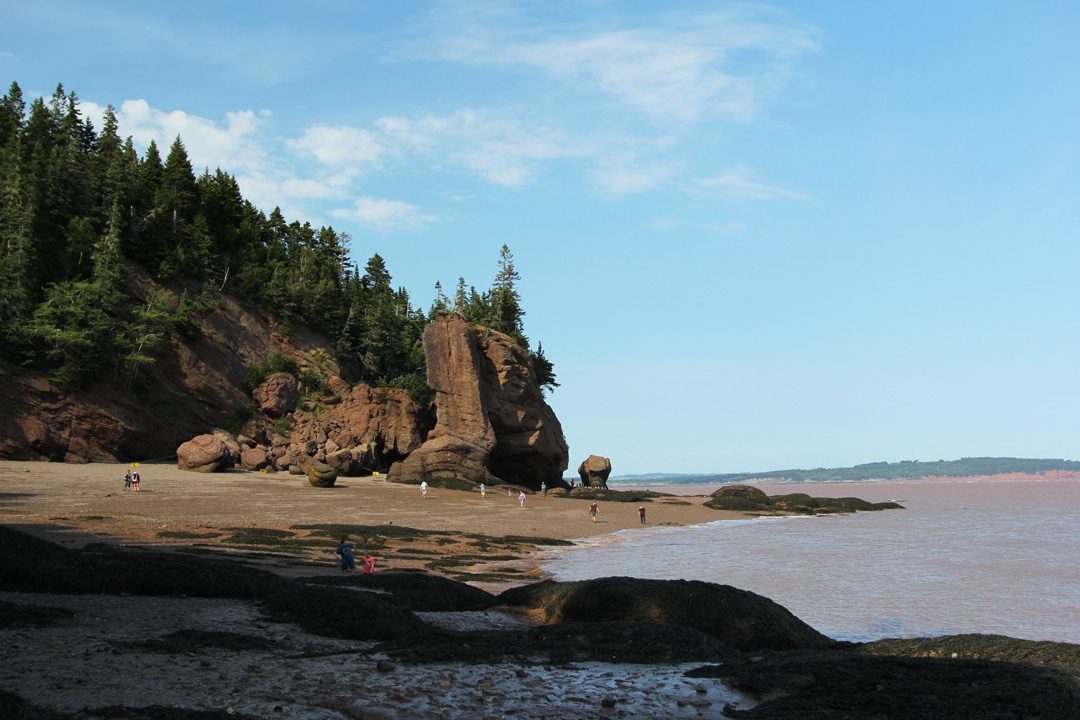 La Baie de Fundy et les Hopewell Rocks au Nouveau-Brunswick
