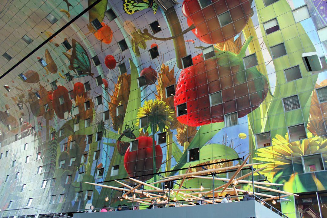 Fresque du Markthal marché à Rotterdam