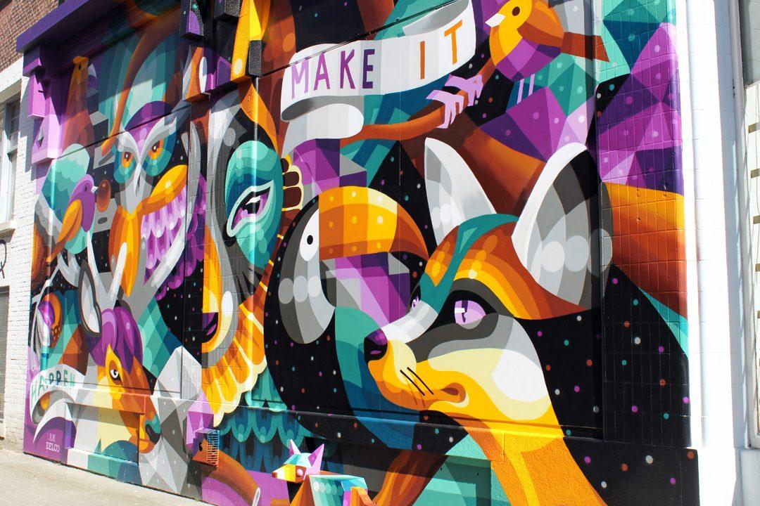 Fresque murale à Rotterdam