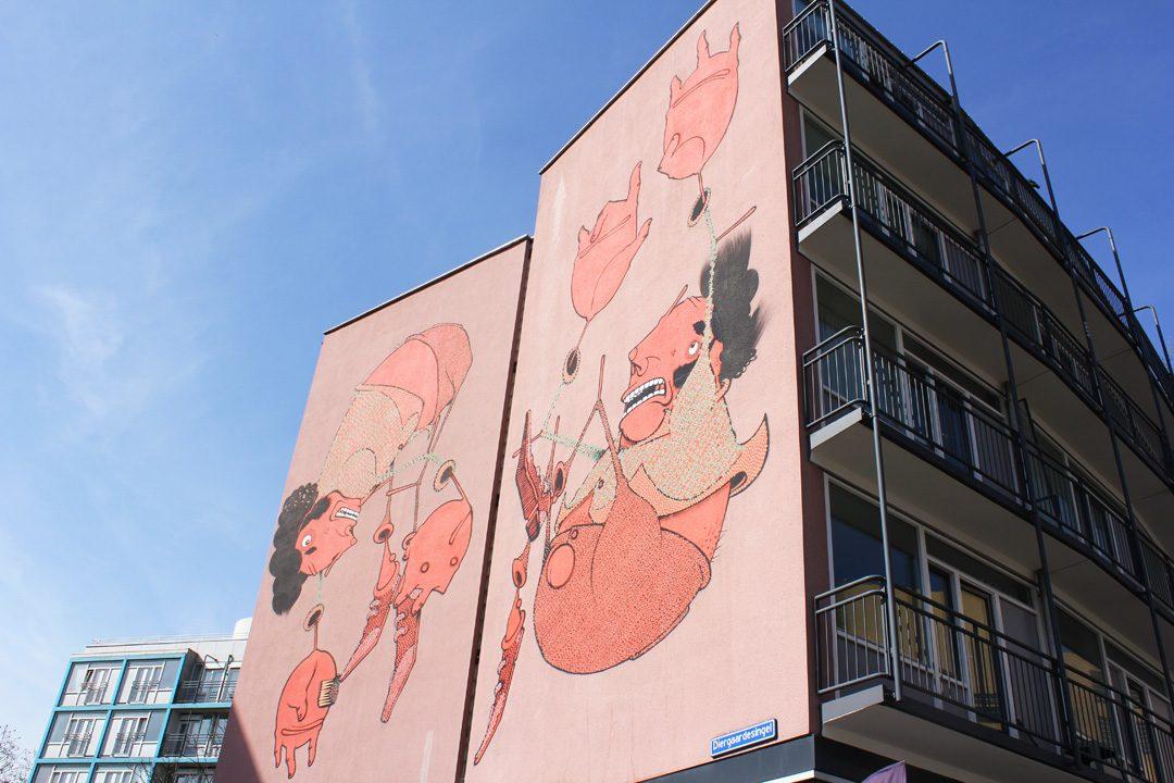 Street-art à Rotterdam aux Pays-Bas