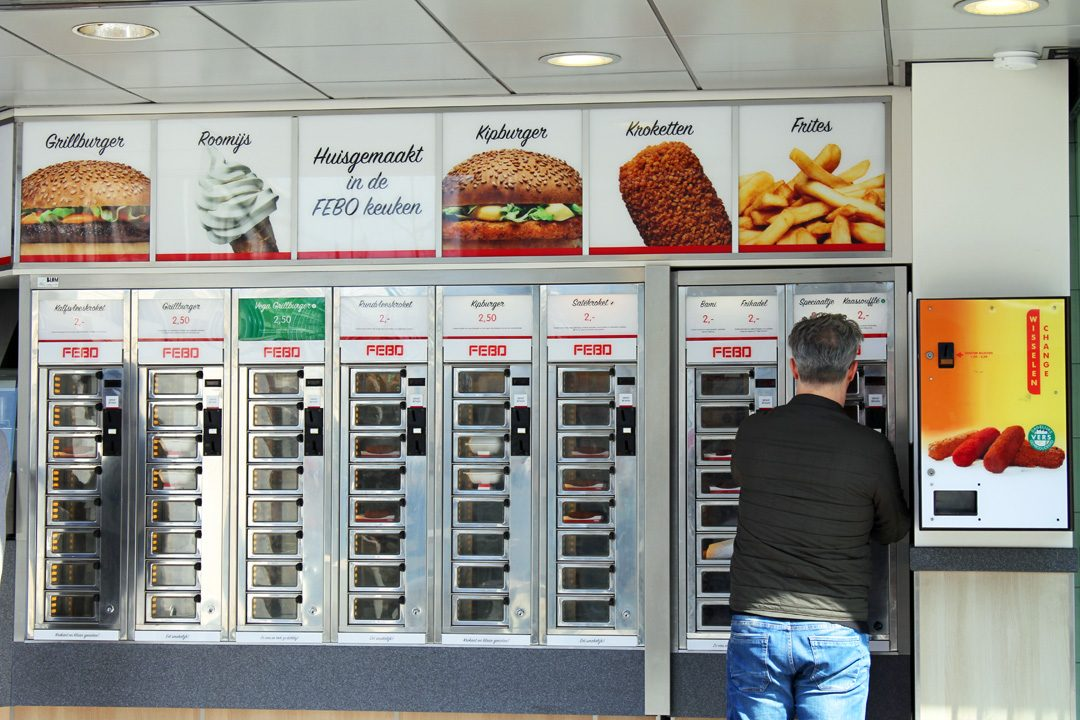 Un distributeur de frites, de hamburgers et de glaces aux Pays-Bas!