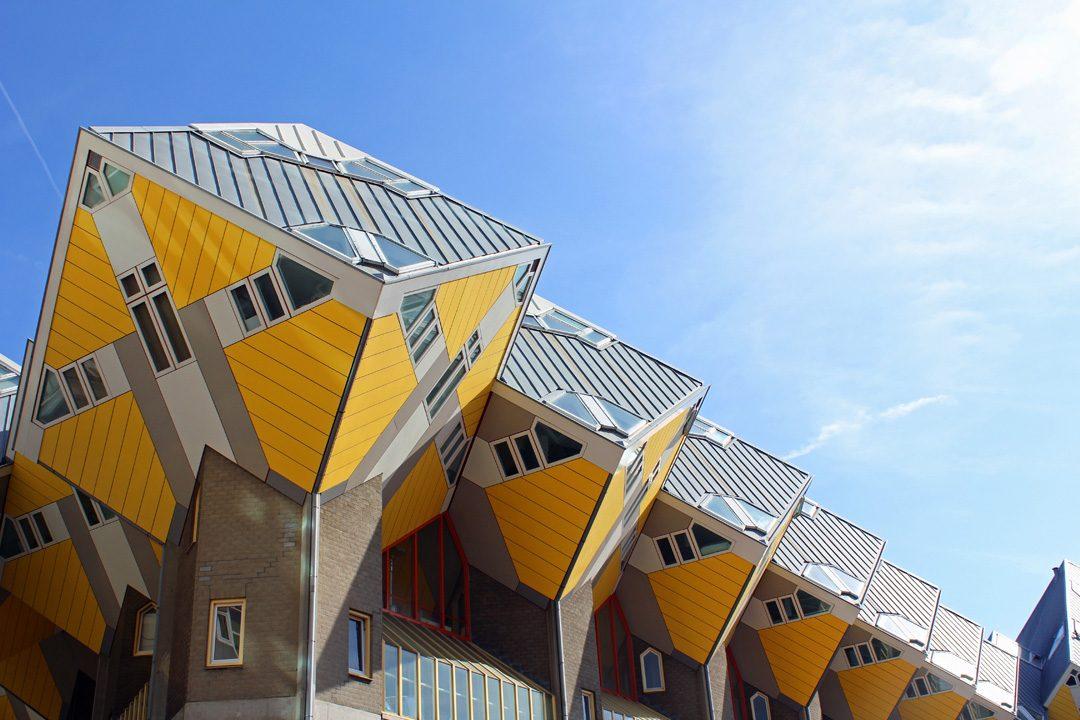 Maisons cubes de Rotterdam aux Pays-Bas