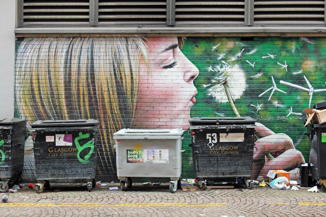 Street-art à Glasgow en Ecosse