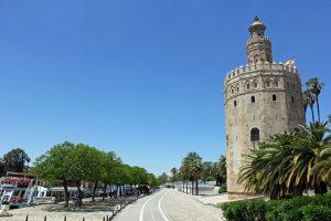 Torre del Oro à Séville en Andalousie