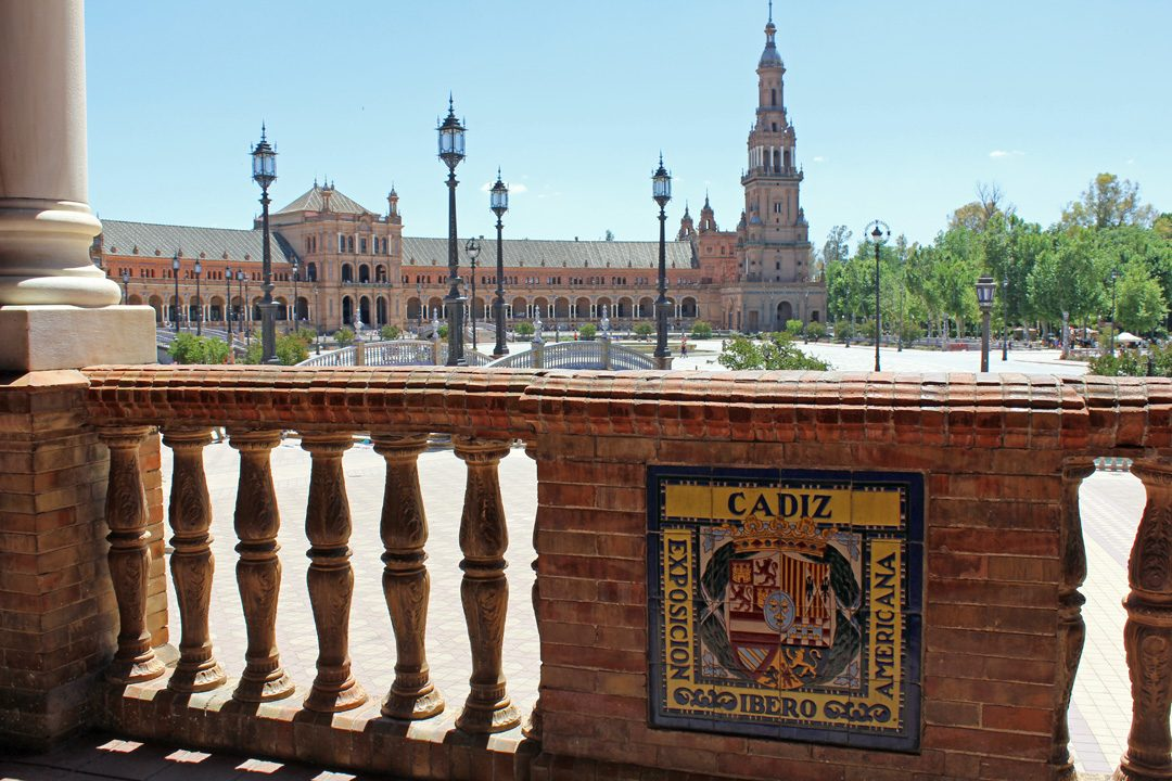 Plaza De Espana à Séville en Espagne